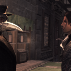 Ezio bij de dokter.