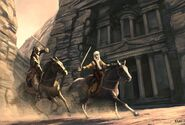 Assassins-Creed-Early-Concept-Art-Horse combat