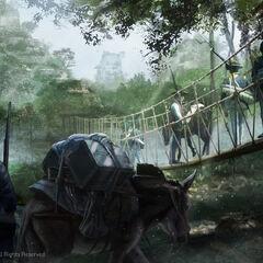 分遣队逼近玛雅遗迹