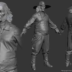 普林斯的3D模型