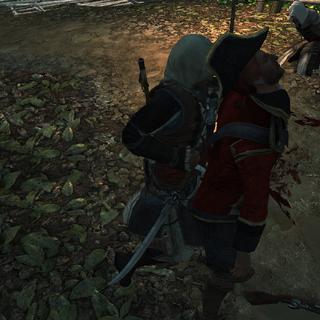 Edward éliminant une sentinelle
