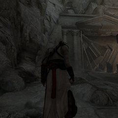 La porte du <b>Temple</b> détruite.
