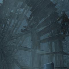 Ezio probeert het dorp te bereiken