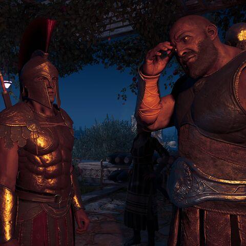 赫罗迪雅诺斯与普拉克索斯在晚宴上