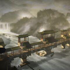 Shao Jun überblickt die Landschaft