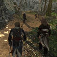 爱德华和阿·塔拜在图卢姆漫步