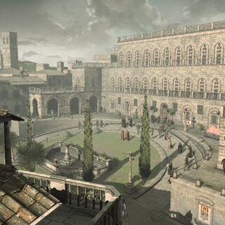 Ezio überblickt den Palazzo Pitti