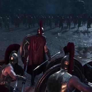 斯巴达战士迎击波斯军团的冲锋