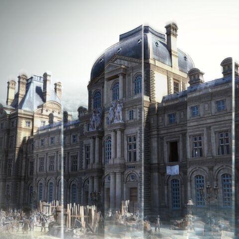 Le <b>Palais des Tuileries</b> dans la <a href=