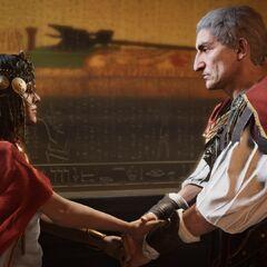 César envieux du pouvoir d'Alexandre