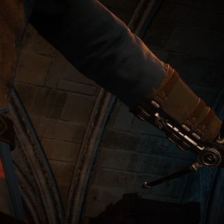 Arno essayant la Lame fantôme