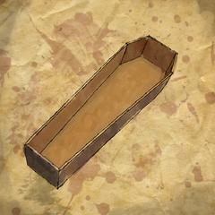 Cercueil à demi enterré