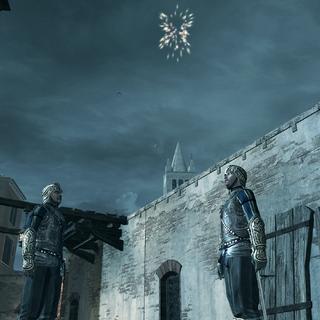 Ezio lançant le signal aux hommes de Bartolomeo