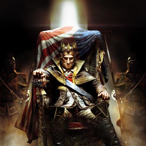 """高分辨率宣传画,写有标语""""上帝拯救国王""""。"""