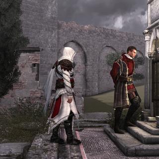 Ezio volgt Niccolò naar een tunnel