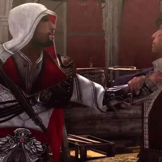 Retrouvaille entre Ezio et <b>Duccio</b> à Rome
