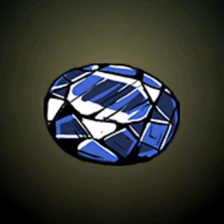 蓝宝石原石 - 这高纯度的蓝色宝石是在<a href=