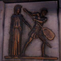 描绘赫拉克勒斯的第五件功绩的浮雕