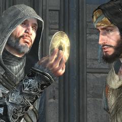 埃齐奥和优素福注视着一枚钥匙