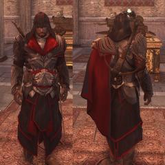艾吉奥穿着赫尔姆斯米尔特铠甲