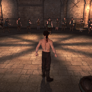 Ezio lors d'un combat dans les <b>baraquements d'Alviano</b>