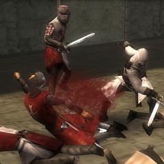 阿泰尔与圣殿骑士战斗