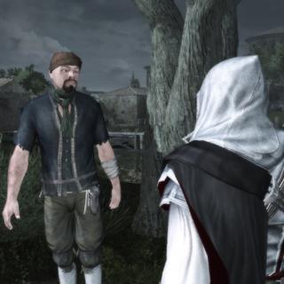 Le voleur lançant un défi à Ezio