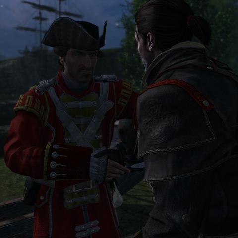 Shay et un officier britannique à <b>Otetiani</b>