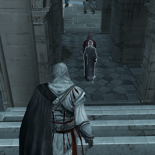 Ezio following Carlo and Silvio