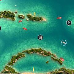 天蝎礁的地图