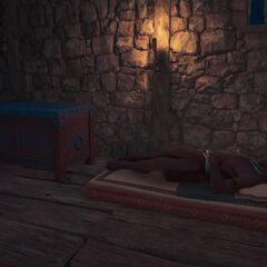 卡历亚斯在要塞里睡觉