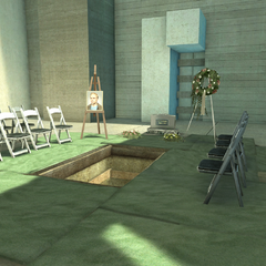 Clay's begrafenis zoals gezien kan worden in <i><a href=