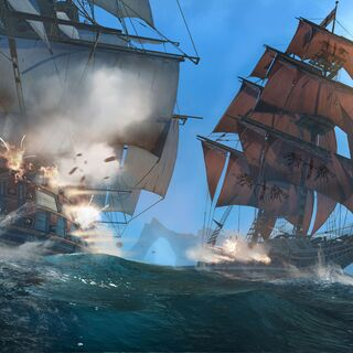 Le <i><b>Morrigan</b></i> combattant un navire ennemi