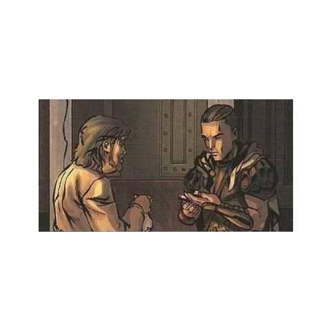卢修斯向阿奎卢斯展示伊甸十字架