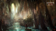 Assassin's Creed III Liberation - Cave entrance concept art by nachoyague