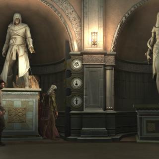 Ezio bij de geheime uitgang