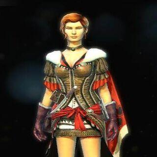 Le Costume de Guerrière pour Gillian McCarthy.