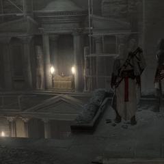 Les Assassins regardant l'Artefact