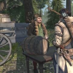 奥列佛向达文波特家园居民们出售麦芽酒