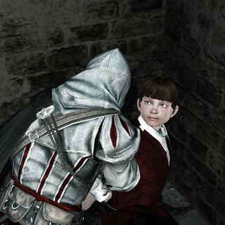 Ezio portant secours à Ottaviano