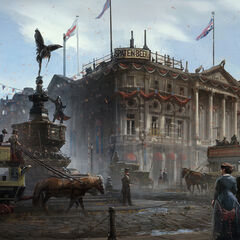 Concept art of London streets
