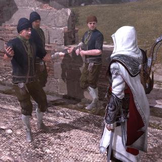一名盗贼向埃齐奥寻求帮助