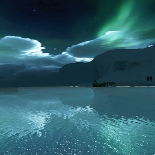 夜晚的冰原