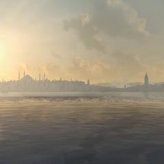 从博斯普鲁斯海峡所见的君士坦丁堡