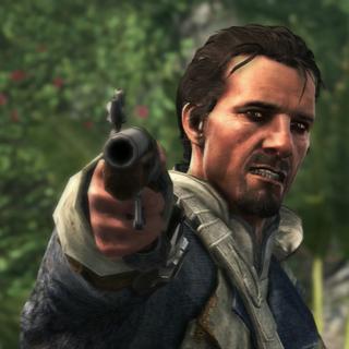 <b>Duncan</b> menaçant Edward de son arme