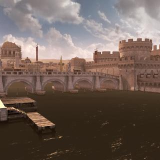 台伯河岸边所见对岸梵蒂冈之景