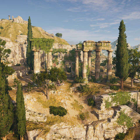 山上的宙斯神殿