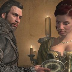 埃齊奧向索菲亞展示馬西亞夫之鑰