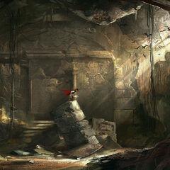 艾芙琳在一座玛雅密室中