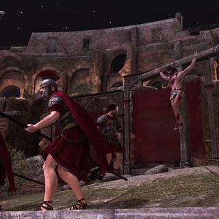 Ezio's rekruten bewaken het podium.